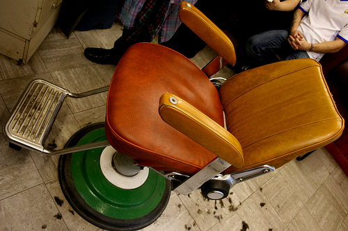 Vintage hairdressers chair