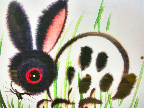 Chinese drawing of rabbit