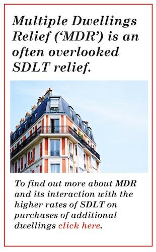 SDLT & MDR