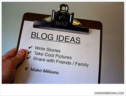 Clipboard listing blog ideas
