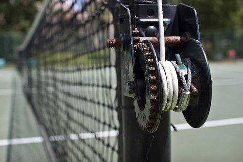 Tennis net mechanism