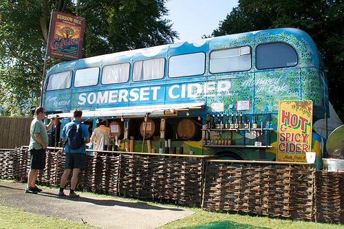 Bus selling Somerset Cider