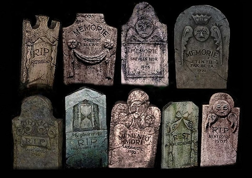 Scary tombstones