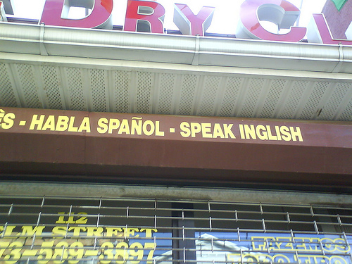 Bad translation on shop front