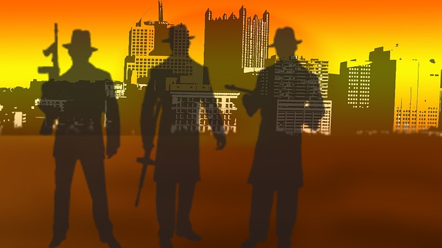 Image depicting gangsters from the 1930s