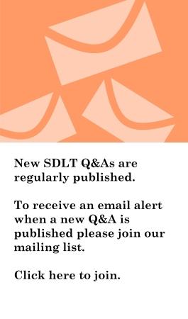 Join Ann's SDLT mailing list
